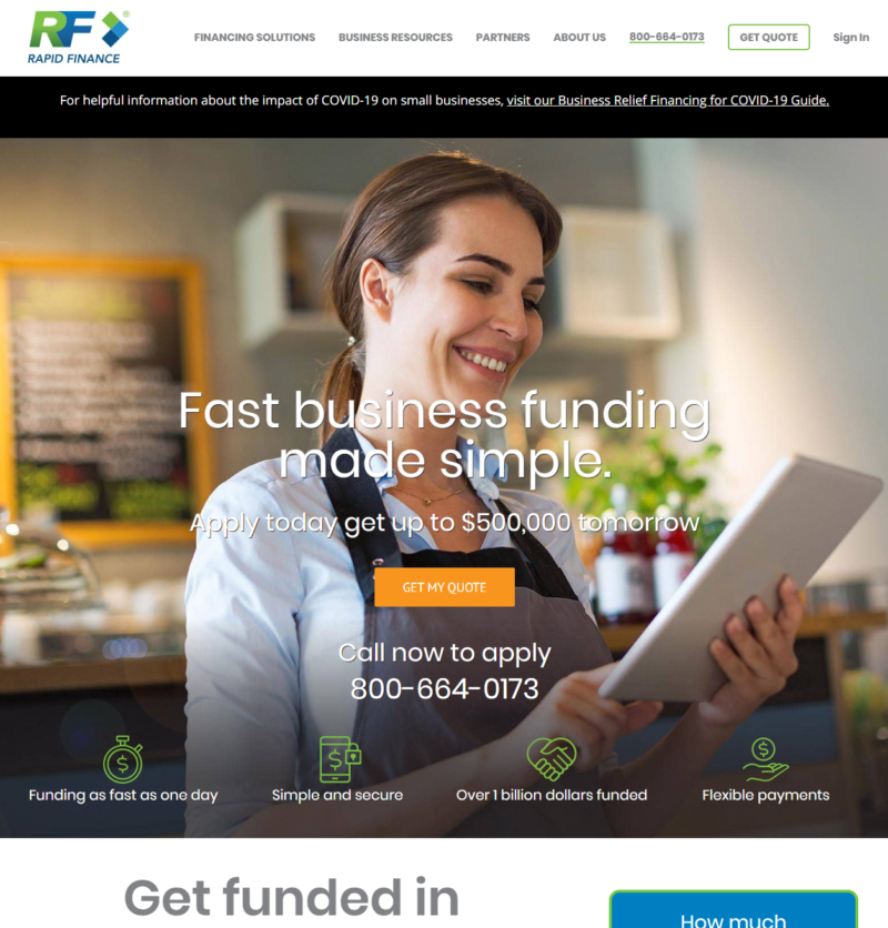 Rapid Finance Website Review